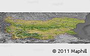 Satellite Panoramic Map of Bulgaria, desaturated