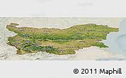Satellite Panoramic Map of Bulgaria, lighten