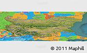 Satellite Panoramic Map of Bulgaria, political outside, satellite sea