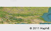 Satellite Panoramic Map of Bulgaria