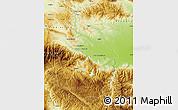 Physical Map of Pazardzik