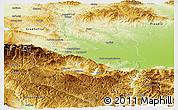 Physical Panoramic Map of Pazardzik