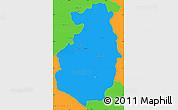 Political Simple Map of Pazardzik