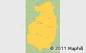 Savanna Style Simple Map of Pazardzik