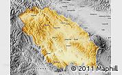 Physical Map of Pernik, desaturated