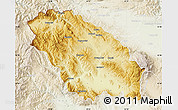 Physical Map of Pernik, lighten