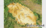 Physical Map of Pernik, satellite outside