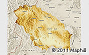 Physical Map of Pernik, shaded relief outside