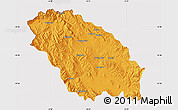 Political Map of Pernik, cropped outside