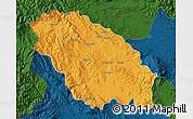 Political Map of Pernik, darken