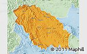 Political Map of Pernik, lighten