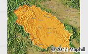 Political Map of Pernik, satellite outside