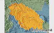 Political Map of Pernik, semi-desaturated