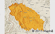 Political Map of Pernik, shaded relief outside