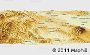Physical Panoramic Map of Pernik