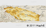 Physical Panoramic Map of Pernik, shaded relief outside