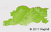 Physical 3D Map of Pleven, cropped outside