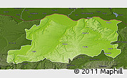 Physical 3D Map of Pleven, darken