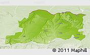 Physical 3D Map of Pleven, lighten
