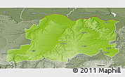 Physical 3D Map of Pleven, semi-desaturated