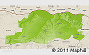Physical 3D Map of Pleven, shaded relief outside