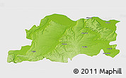 Physical 3D Map of Pleven, single color outside