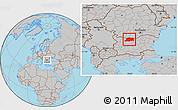 Gray Location Map of Pleven