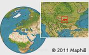 Satellite Location Map of Pleven