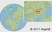 Savanna Style Location Map of Pleven