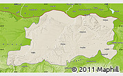 Shaded Relief Map of Pleven, physical outside