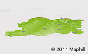 Physical Panoramic Map of Pleven, cropped outside