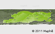 Physical Panoramic Map of Pleven, darken, semi-desaturated