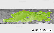 Physical Panoramic Map of Pleven, desaturated