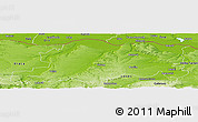 Physical Panoramic Map of Pleven