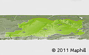 Physical Panoramic Map of Pleven, semi-desaturated