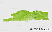 Physical Panoramic Map of Pleven, single color outside