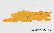 Political Panoramic Map of Pleven, cropped outside