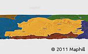 Political Panoramic Map of Pleven, darken