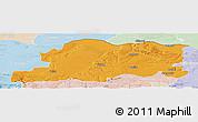 Political Panoramic Map of Pleven, lighten