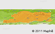 Political Panoramic Map of Pleven, physical outside