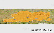Political Panoramic Map of Pleven, satellite outside