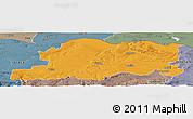 Political Panoramic Map of Pleven, semi-desaturated