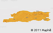 Political Panoramic Map of Pleven, single color outside