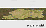 Satellite Panoramic Map of Pleven, darken