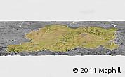 Satellite Panoramic Map of Pleven, desaturated