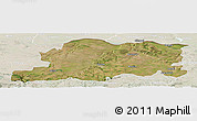Satellite Panoramic Map of Pleven, lighten
