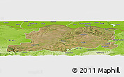 Satellite Panoramic Map of Pleven, physical outside