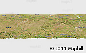 Satellite Panoramic Map of Pleven