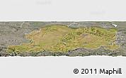 Satellite Panoramic Map of Pleven, semi-desaturated