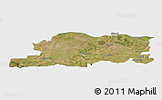 Satellite Panoramic Map of Pleven, single color outside